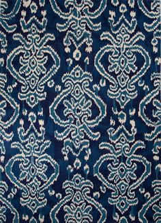 Trending favorite area rug at SKY IRIS. Updated tribal patterns for room redo. Ikat Medallion Pattern Indigo Blue Rug