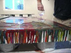 Clear epoxy resin to cover paintings & artwork
