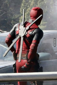 Just Ryan Reynolds doing what Deadpool would do