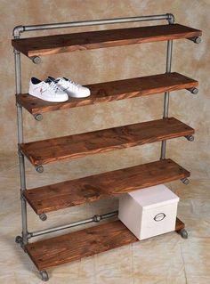 Dica de organização para a casa – Faça você mesmo – Prateleiras com canos de PVC