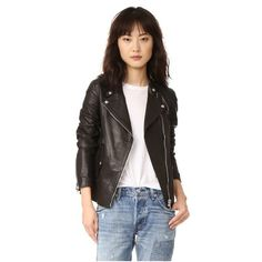 Belstaff Burnett Jacket (€1.450) ❤ liked on Polyvore featuring outerwear, jackets, black, leather motorcycle jacket, real leather jackets, leather jackets, belstaff jacket and pocket jacket