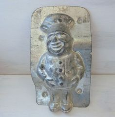 ANTIQUE-OR-VINTAGE-CHOCOLATE-METAL-MOLD-MOULD-Italian-cook