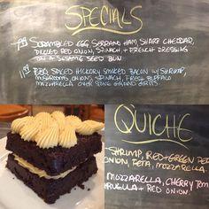 Breakfast Specials Today! #eggs #bacon #snscafe #quiche #explorewilmingtonnc #wakeandbake