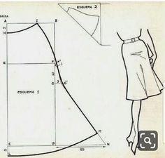 Drafting a bias cut tulip skirt Skirt Patterns Sewing, Blouse Patterns, Clothing Patterns, Sewing Tutorials, Sewing Hacks, Sewing Projects, Fashion Sewing, Diy Fashion, Fashion Moda