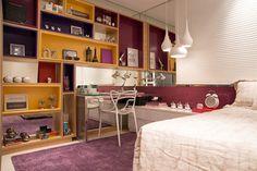 estante / quarto de menina / bedroom / girl / apartamento decorado / home decor / bohrer arquitetura / interior design
