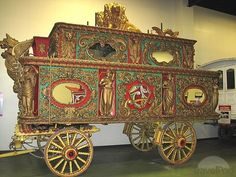 Fabulous hand carved ornate circus wagon from the early days of the American Circus.