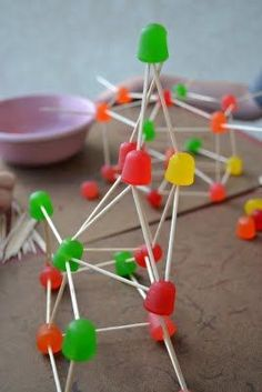 Toothpick and Gumdrop Construction: Cost: $1 for the box of toothpicks and $1 for each boy a giant box of gumdrops SOO FUN!!!  Definitely will do this again.  Great for Cub Scouts - could use for conste