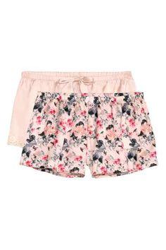Lot de 2 shorts en satin