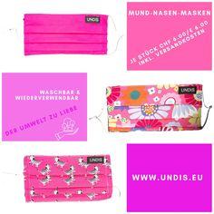 UNDIS www.undis.eu Mund-Nase-Masken Bei UNDIS www.undis.eu gibt es jetzt auch MUND-NASEN-MASKEN im Partnerlook für Erwachsene und Kinder. Je Stück CHF 6,00 / € 6,00 (Versandkosten sind im Preis inkludiert) #undis #maskeauf #behelfsmaske #mundnasenmaske #mundmaske #gesichtsmaske #nähen #kreativ #bunt #maske #corona #virus #maske #mundnasenschutz #deutschland #schweiz #österreich #maske #kinder #eltern #diy #partnerlook #bunt #gesundheit #mundnasemaske Karate Kid, Giraffe, Bags, Fashion, Green Pattern, Red Pattern, Funny Mouth, Funny Underwear, Red Dots