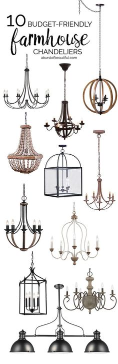Budget Friendly Farmhouse Chandeliers
