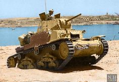 An Italian Carro Armato Medium Tank of Armored Division Ariete during the battle of Tobruk in Libya,May-June Army Vehicles, Armored Vehicles, Military Guns, Military History, Afrika Corps, North African Campaign, Italian Army, Ww2 Tanks, German Army