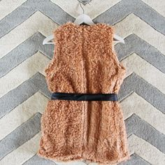 The Teddy Vest in Blush, Cozy Faux Fur Vests from Spool 72. | Spool No.72