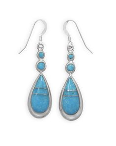 Round and Pear Shape Turquoise Drop Earrings #round #pearshape #turquoise #dropearrings #earrings