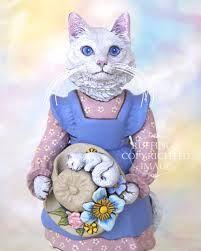 white cat art - Google Search