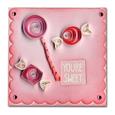 Valentine Quilled Candy Mini Card
