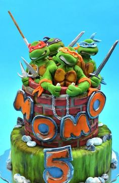 Teenage Mutant Ninja Turtles Cake - Cake by Nasa Mala Zavrzlama Ninja Turtle Birthday Cake, Ninja Cake, Tmnt Cake, Turtle Birthday Parties, Turtle Party, Lego Cake, Birthday Ideas, Superhero Cake, Mutant Ninja