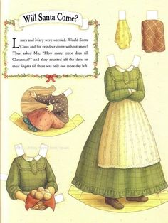 http://www.theatreofyouth.org Little House on the Prairie paper dolls