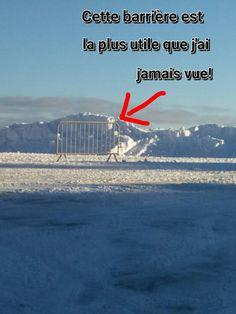 La barrière la plus inutile! Humour citations drôles...