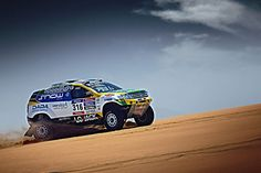 Renault Duster Team on the 2015 Dakar Rally with Nissan V8 Engine