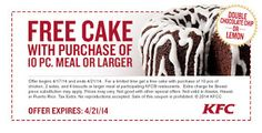 Kfc Coupons Ends of Coupon Promo Codes MAY 2020 ! Worlds Louisville, the The 2018 Fried Wingstreet sales after It Hut, owns is fast y. Kfc Coupons, Store Coupons, Grocery Coupons, Print Coupons, Free Printable Coupons, Free Printables, Kfc Cake, Dollar General Couponing, Coupons For Boyfriend