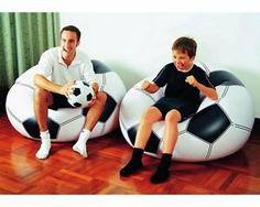 pouf chaise coussin gonflable foot enfant ballon de football