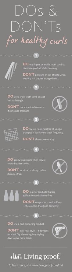 Got naturally curly hair? Here are the do's and don'ts for keeping your curls healthy and gorgeous.