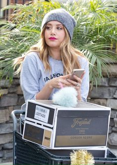 When ashley tisdale is shopping but it looks like a photoshoot