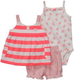 Carters Bodysuit Shorts 3piece Outfit Set NB24M Newborn ** Want additional info? Click on the image.