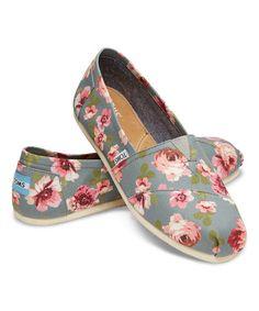 d4954b56386 TOMS Gray   Pink Floral Classics