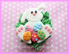 Easter Bunny Cupcake by Victorious Cupcakes