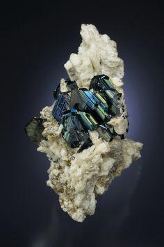 Hematite on Albite - Cavradi gorge, Curnera Valley, Tujetsch, Vorderrhein Valley, Grischun, Switzerland