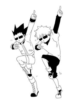 Gon and Killua ~ Hunter x Hunter - this is just proper swag xD