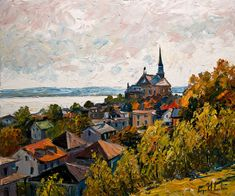 Chateau Richer, by Raynald Leclerc - great light, colour and overall aesthetic and scene