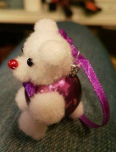 Jule glaskugle som en bamse.