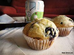 Muffin de arándanos y queso - Bake-Street.com