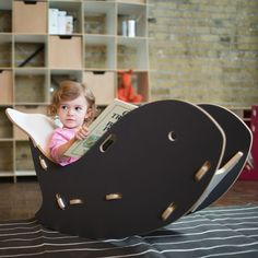 Sprout Whale Chair (Grey) (MDF)