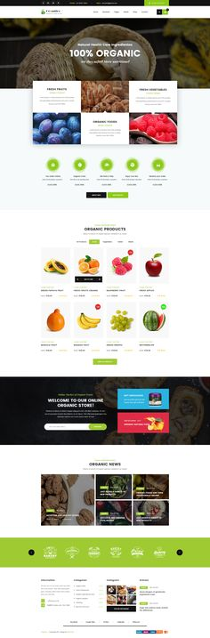 Origanico - Organic Online Store PSD Template #nature #organic #organic food • Download ➝ https://themeforest.net/item/origanico-organic-online-store-psd-template/19650068?ref=pxcr