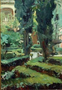 Patio de La Alhambra, Granada. 1910