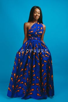 African print infinity dress Can be worn more than 10 different ways 2 side pockets Elastic Back cotton Made with high quality African print wax fabric Invisible zipper slit, Can be worn with or without the slit Skirt measures approximately 45 inches African Maxi Dresses, Ankara Dress, African Attire, African Wear, African Style, Chitenge Dresses, African Print Jumpsuit, Casual Party Dresses, Long Dresses