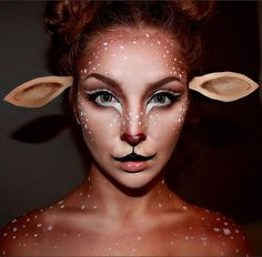Deer Makeup! Using @tartecosmetics Light of the Party. @makeupforeverofficial Contour. And @ohmykittydotcom Contacts❤️