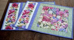 Quilted Placemats  Easter Spring Placemats  by RedNeedleQuilts, $36.00