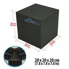 New 1 pc Cube Corner Bass Trap Block Acoustic Panels Sound Absorption Studio Soundproof Foam 20 x 20 x 20 cm Studio Soundproofing, Bass Trap, Foam Panels, Recording Studio Design, Sound Absorption, Sound Absorbing, Upholstery Foam, Wall Insulation, Acoustic Panels