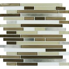 MS International, 12 in. x 12 in. Escorial Blend Interlocking Mesh-Mounted Glass/Metal Mosaic Tile, THDWG-GLMT-EBI-8MM at The Home Depot - Mobile
