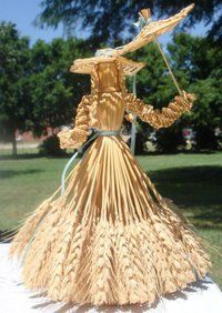 Doll made from wheat.