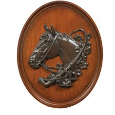 Oklahoma Casting Horse Head Relief Wall Art