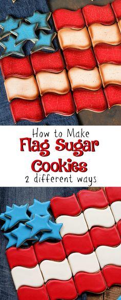 How to Distress Sugar Cookies for an Aged Look or Keep it Simple Super Cookies, Crazy Cookies, Cut Out Cookies, Cupcake Cookies, Baking Cookies, American Flag Cookies, Biscuits, Sugar Cookie Royal Icing, Patriotic Desserts