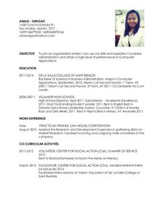 resume to apply for a job