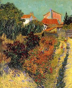 Garden Behind a House / Vincent van Gogh - 1888