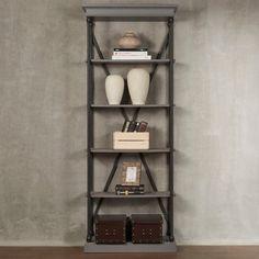 INSPIRE Q Barnstone Cornice Single Shelving Bookcase