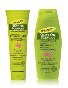 Palmer's Extra Virgin Olive Oil Formula  It's new and hopefully a great addition to my hair care routine. Olive oil promises a shinier and softer mane but dousing the hair with pure olive oil doesn't sound all that appealing. So Palmer's new Olive Oil Smoothing Shampoo and Replenishing Conditioner has become my latest hair ally. Says it's rich in antioxidants and vitamins; free of sulfates and parabens. Leaves the hair easy to comb and soft.